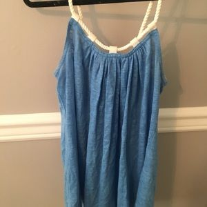 Tank top with rope straps